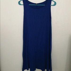 Uniqlo royal blue tank top cotton dress xs